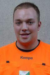 Patrick Köbrich, SR seit 2012  VSO des TSV der Handballabteilung Vereinsschiedsrichter pfeift mit Thomas Minich im Gespann